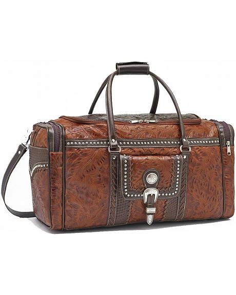 American West Zip-Around Leather Cowboy Rodeo Bag