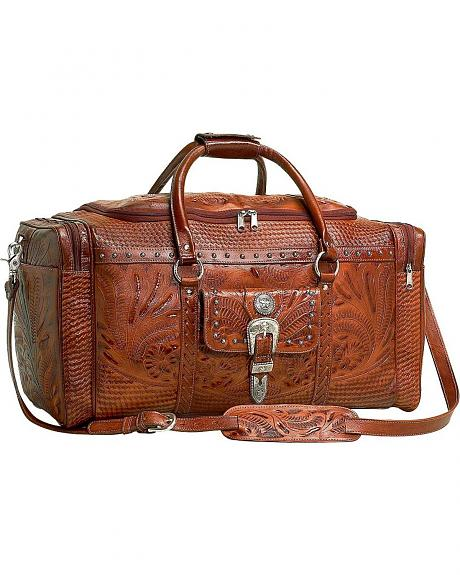 American West Fancy Zip Leather Rodeo Bag