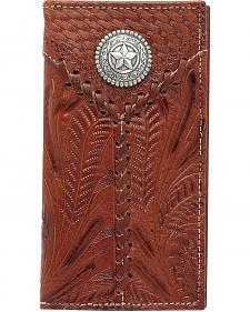 American West Laced Leather Rodeo Wallet