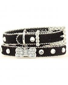 Blazin Roxx Hair On Hide Dog Collar - XS-S