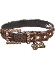 Blazin Roxx Leopard Print Dog Collar - M-L