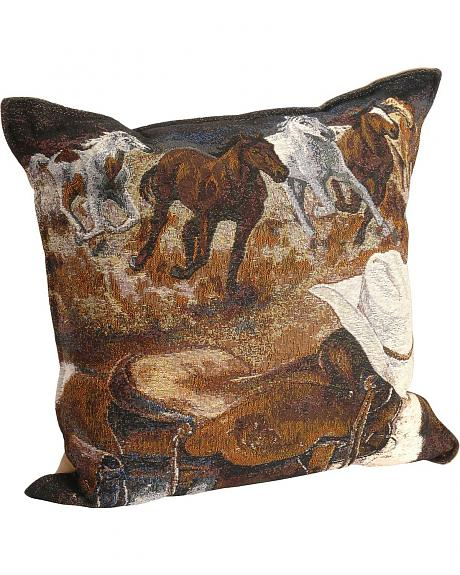 Western Way Tapestry Pillow
