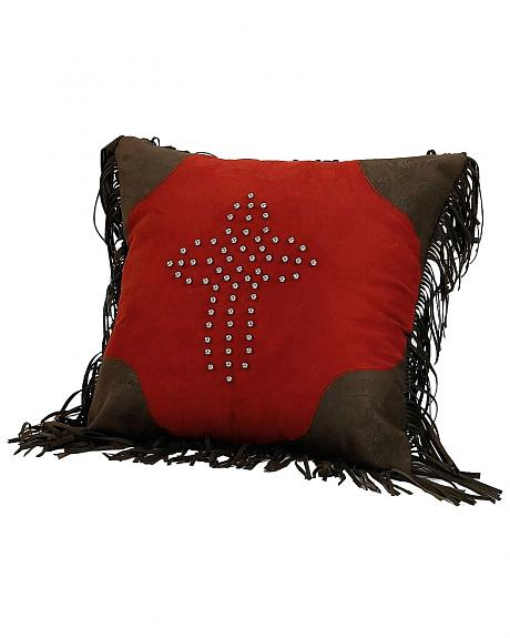 HiEnd Accents Studded Cross Decorative Pillow