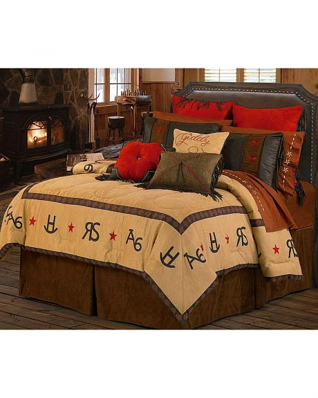 HiEnd Accents Branding Iron Bed In A Bag Set - Full