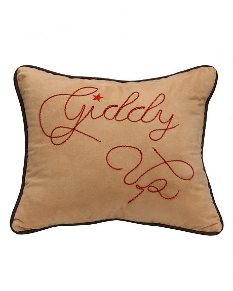 HiEnd Accents Giddy Up Decorative Pillow