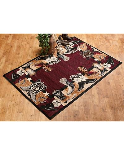 Cowboy Boots Large Area Rug Western & Country WL-29 8 X 11