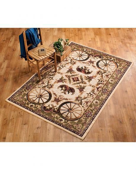 Wagon Wheel Area Rug