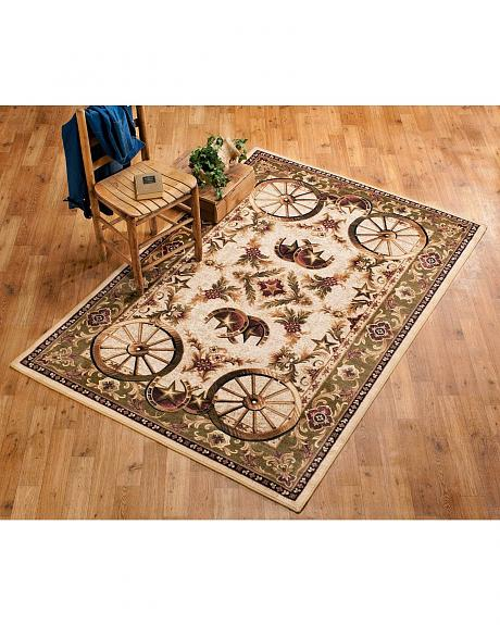 Wagon Wheel Large Area Rug