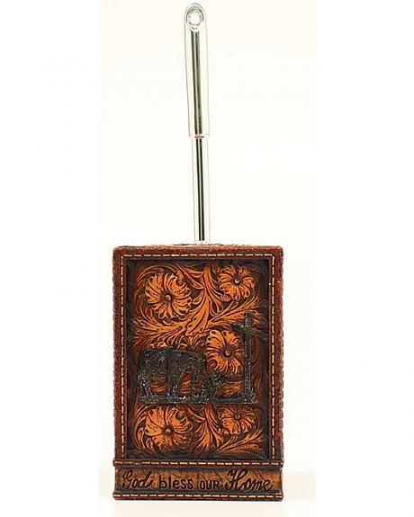 Cowboy Prayer Open Range Toilet Brush Holder