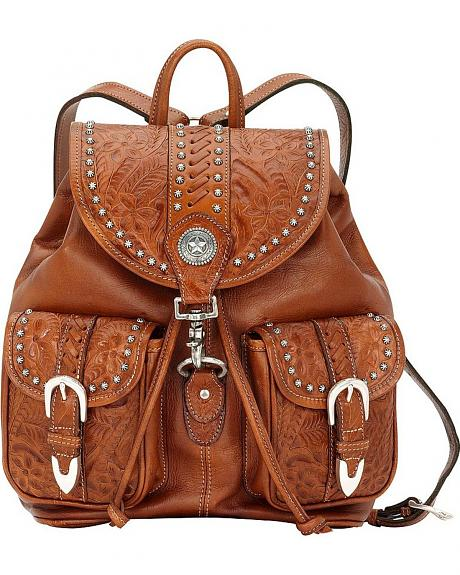 American West Leather Backpack