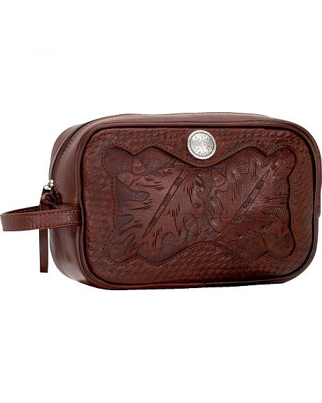 American West Leather Dopp Kit