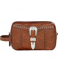 American West Leather w/ Buckle Dopp Kit
