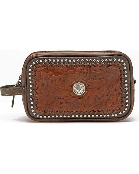 American West Studded Leather Dopp Kit