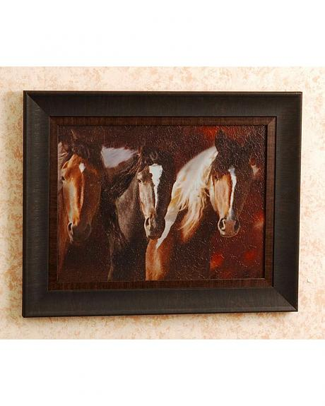 Three Horse Compadres Framed Wall Art