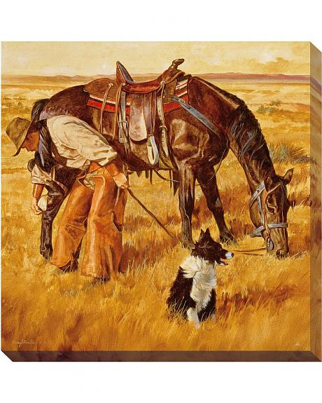 Upkeep Cowboy Canvas Wrapped Wall Art