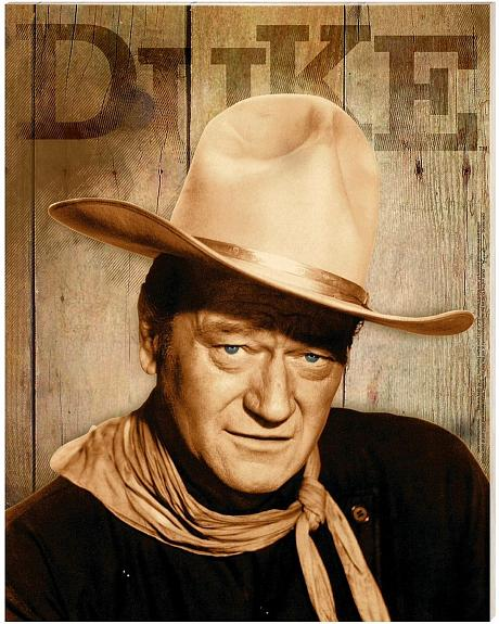 John Wayne Canvas Wall Hanging