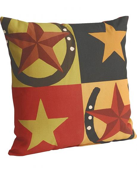 Star & Horseshoe Howdy Pillow
