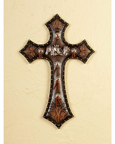 Horse Head Cross Wall Art