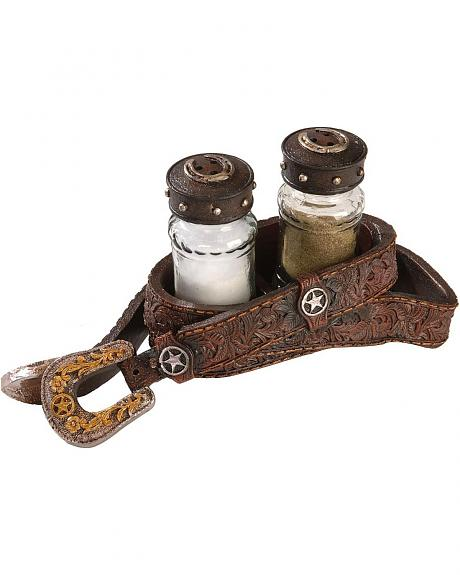 Buckle Holder Salt & Pepper Shaker Set