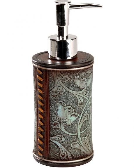 Faux Tooled and Whipstitch Soap Dispenser