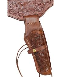 .45 Caliber Hand Tooled Leather Double-Gun Belt at Sheplers