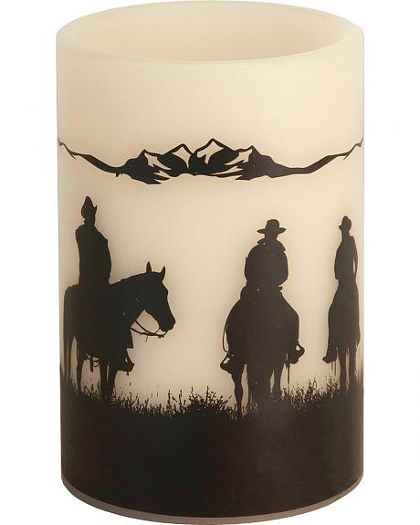 Cowboys LED Candle