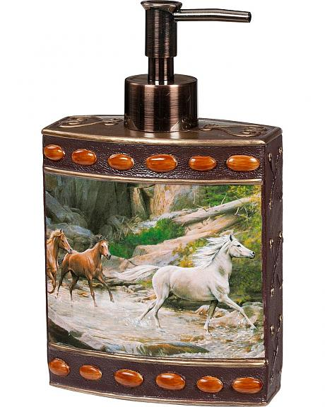 Horse Canyon Beaded Horse Print Lotion/Soap Dispenser with Pump