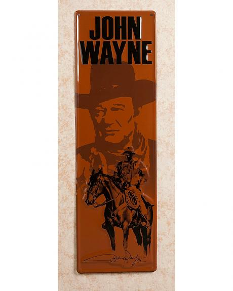 Embossed John Wayne Metal Sign
