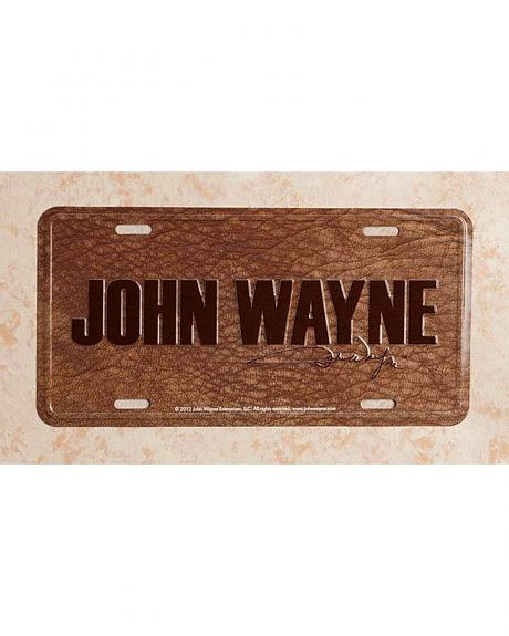 John Wayne License Plate