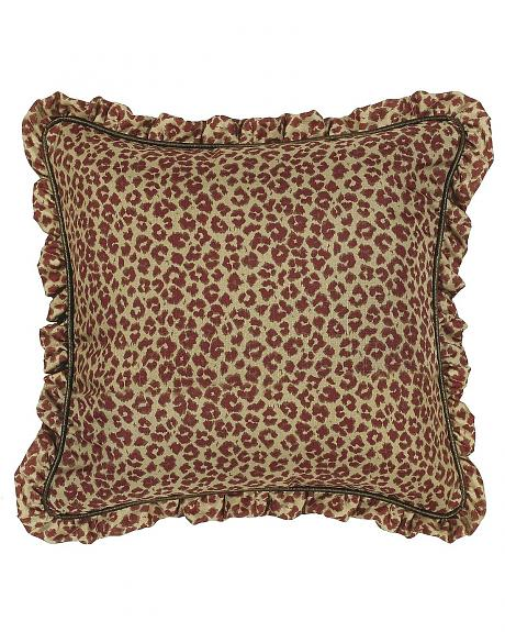 Austin Leopard Print with Ruffled Edge Euro Sham