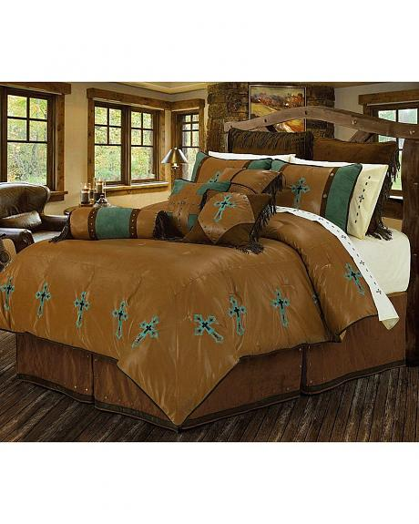 HiEnd Accents Las Cruces Twin Size Bedding Set