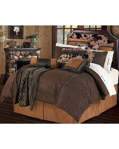 HiEnd Accents Caldwell Twin Bedding Set Western & Country WS4002T