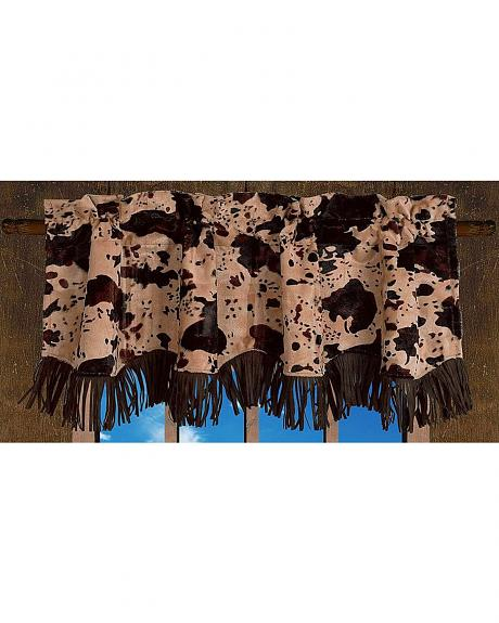 HiEnd Accents Caldwell Cow & Fringe Scalloped Valance