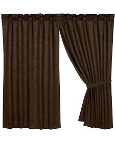 HiEnd Accents Caldwell Faux Tooled Leather Curtain