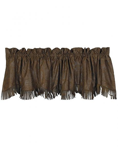HiEnd Accents Caldwell Faux Tooled Leather Valance