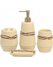 HiEnd Accents Barbed Wire Bathroom Set