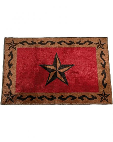 HiEnd Accents Red Star Bathroom/Kitchen Rug