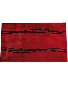 HiEnd Accents Red Barbwire Bathroom/Kitchen Rug