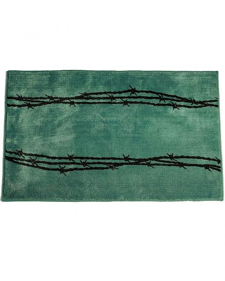 HiEnd Accents Turquoise Barbwire Bathroom/Kitchen Rug