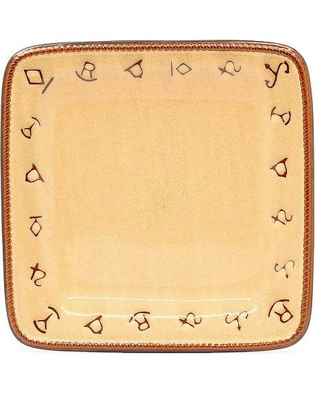 Rustic Ranch Ceramic Dinner Plates - Set of 4