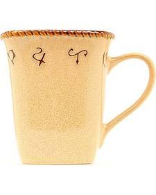 Rustic Ranch Ceramic Mugs - Set of 4
