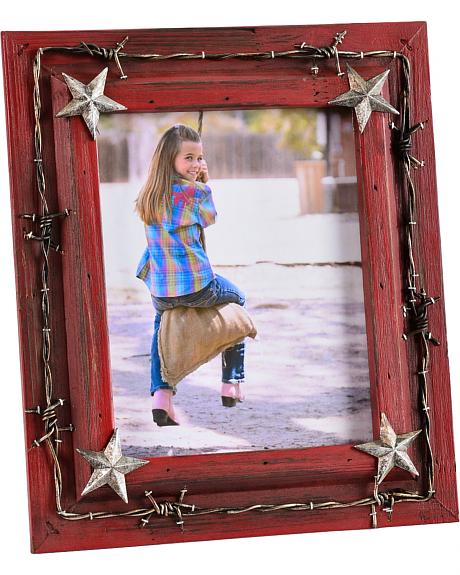 HiEnd Accents Barbed Wire & Star Conchos Picture Frame - 8