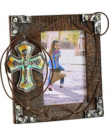 "Cross & Rope Wooden 4"" x 6"" Photo Frame"