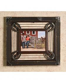 "Barbed Wire & Horseshoe Frame - 8"" x 10"""