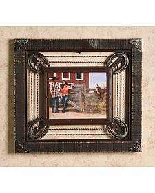"Barbed Wire & Horseshoe Frame - 8"" x 10"""