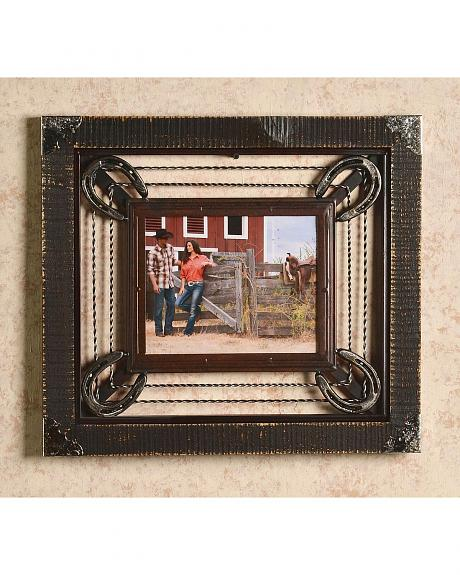 Barbed Wire & Horseshoe Frame - 8