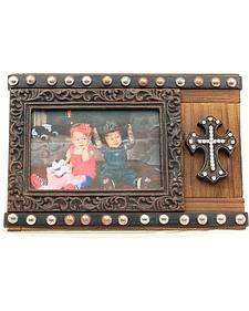 "Studded Cross Photo Frame - 4"" x 6"""