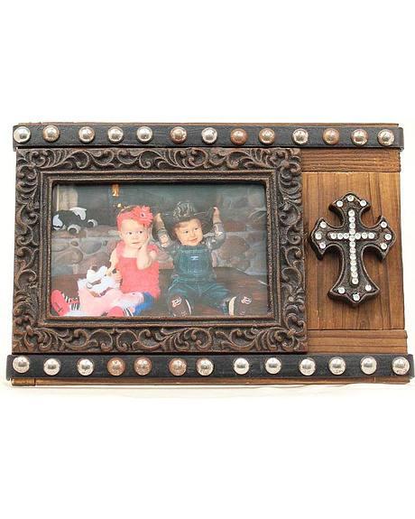Studded Cross Photo Frame - 4