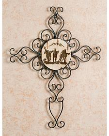 Running Horses Metal Wall Cross