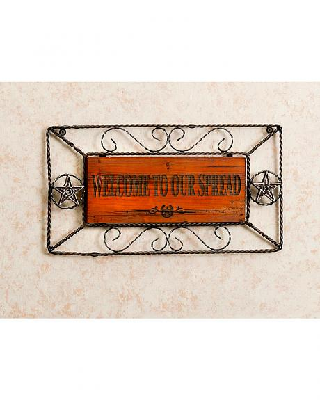 Welcome To Our Spread Wooden & Metal Sign